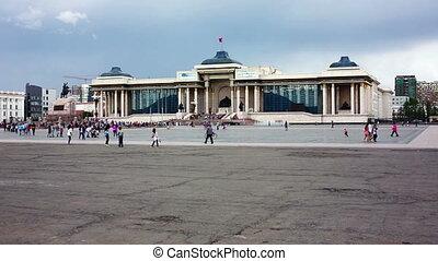 View of Sukhbaatar Square, Ulaanbaatar, Mongolia