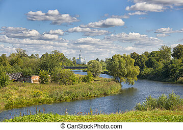 View of Suzdal from the Kamenka River