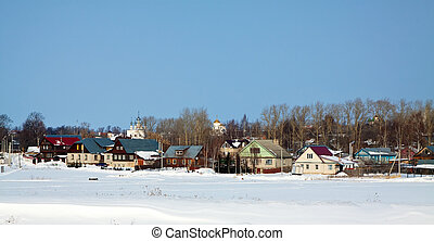 view of Suzdal in winter