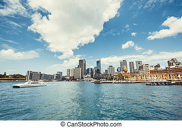 Sydney Harbour with Sydney opera house, Australia