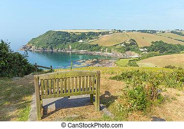 View of Talland Bay Cornwall