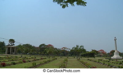 View of Taukkayan Cemetery landscape, Myanmar - Wide...