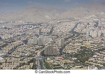 View of Tehran from the Azadi Tower - Iran