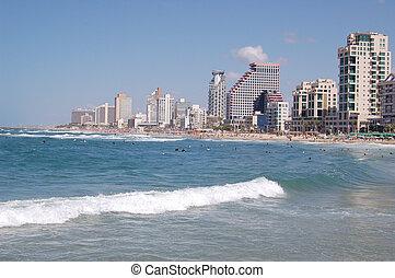 Tel-Aviv beech - View of Tel-Aviv beech