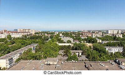 View of the 12th district of the city of Anapa resort