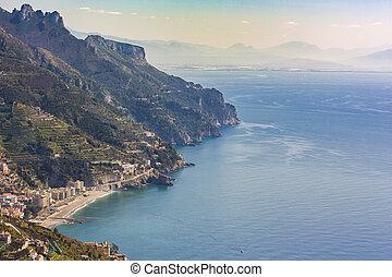 View of the Amalfi Coast, Italy, Europe