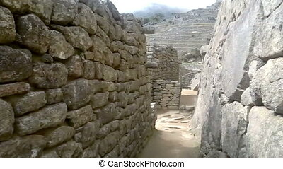 View of the ancient Inca City of Machu Picchu. The 15-th...