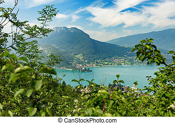 View of the Annecy lake