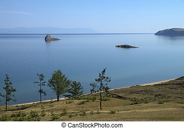 View of the Baikal Lake.
