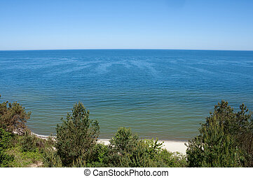 Baltic sea - View of the Baltic sea from a cliff