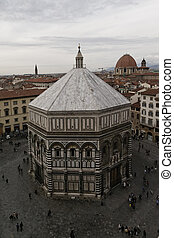View of the baptistery of San Giovanni Florence - View of ...