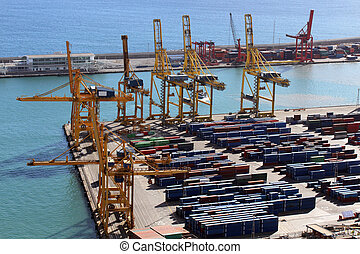View of the Barcelona port, in Spain