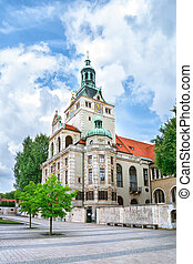 View of the bavarian national museum in Munich