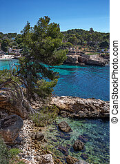 view of the bay LA CALITA, PORTALS NOUS with beach, Mallorca