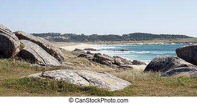 View of the beach coast