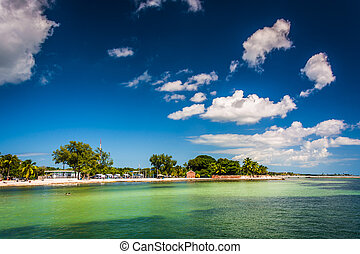 View of the beach in Key West, Florida.