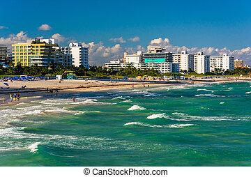 View of the beach in Miami Beach, Florida