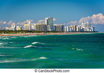 View of the beach in Miami Beach, Florida