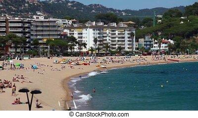 beach resort city in summer - view of the beach resort city...