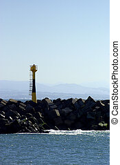 View of the beacon of a jetty