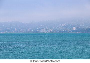 View of the Black sea coast in Batumi, Georgia