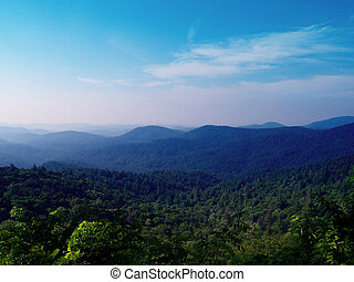 Blue Ridge Mountains - View of the Blue Ridge Mountains from...