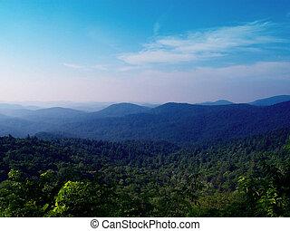 Blue Ridge Mountains - View of the Blue Ridge Mountains from...