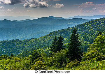 View of the Blue Ridge Mountains seen from Cowee Mountains Overl