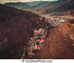 View of the Borjomi resort town , Georgia