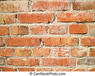 View of the brick wall