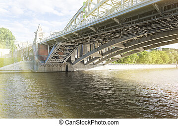 View of the bridge from below the Moscow river.