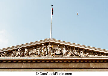 View of the British Museum in London