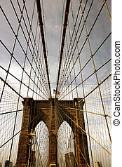 Brooklyn bridge - View of the Brooklyn bridge in New York