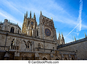 Burgos cathedral - View of the Burgos cathedral - Spain