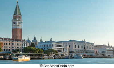 View of the Campanile di San Marco and Palazzo Ducale, from...