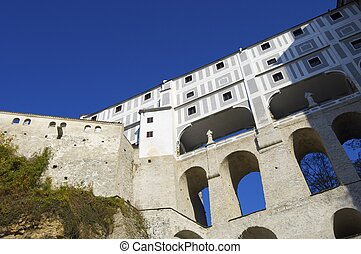 Cesky Krumlov - view of the castle of Cesky Krumlov, South ...