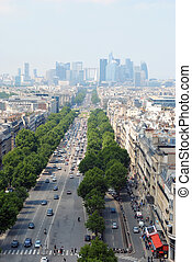 View of the Champs Elysees.