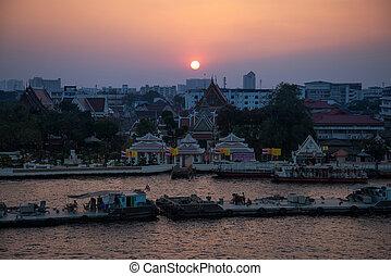 View of the Chao Phraya River in Bangkok, Thailand