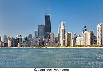 View of the Chicago - View of the city of Chicago from...