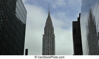View of the Chrysler building in New York.