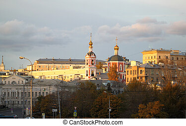 View of the Church in the city of Moscow