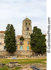 View of the Church of St. Trophime in Arles - France, Provence-A