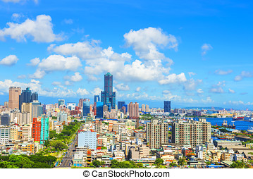 view of the city in Kaohsiung Taiwan