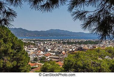View of the City Kalamata, Peloponnese, Greece