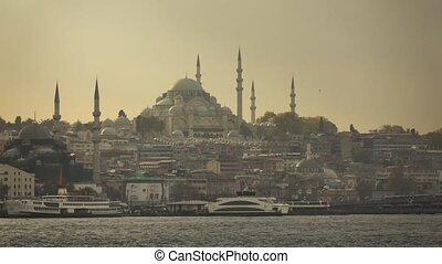 view of the city of Istanbul from the ship.Turkey - view of...