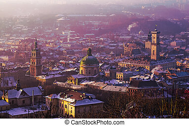 View of the city of Lviv