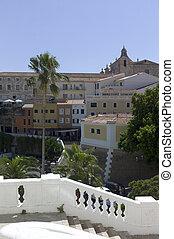 View of the city of Mahon, Menorca, Spain