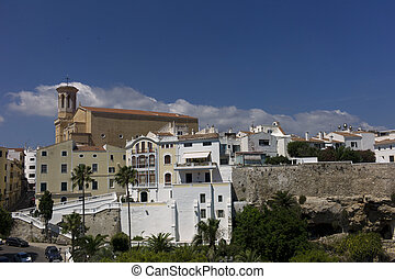 View of the city of Mahon, Menorca, Spain - View of Mahon or...
