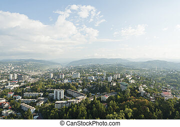 View of the city of Sochi, Russia