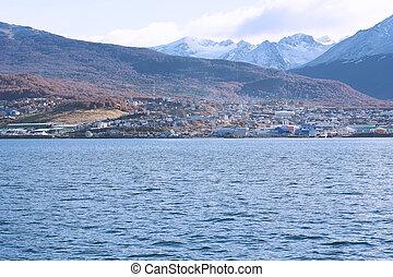 Ushuaia, Tierra del Fuego, Argentina. - View of the city of ...
